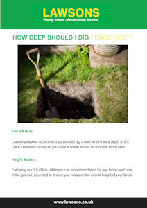 How Deep Should I Dig My Fence Post