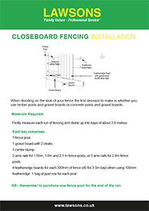Closeboard Fencing Installation