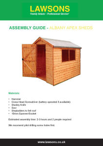 Assembly Guide for Albany Apex Sheds