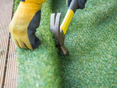 Can you use artificial grass on decking
