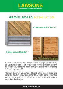 How to Install Gravel Board?