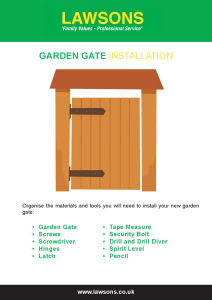 How to Install a Wooden Gate?