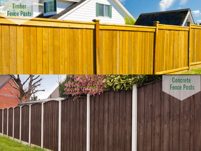Timber or Concrete Fence Posts