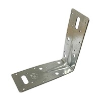 BAT Heavy Duty Angle Brackets are designed for multi purpose fixing applications and can be used as replacement cleats, nailed or bolted. Angle Brackets may be used for timber/timber, timber/steel and timber masonry connections. May be fixed with nails bolts or coach screws must be used in pairs. Dimensions: 150 x 150 x 63mm (2mm thick ribbed).