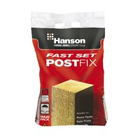 Hanson Fast Set Post Fix is a simple to use fast setting concrete mix for fixing fence, gate & line posts in the ground. It requires no pre-mixing before use.