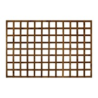 Heavy duty trellis is constructed using 16x38 treated softwood battens to create a robust square affect patterned trellis. It can be used to add extra height to a fence and or to improve the appearance of your fence.