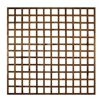 1828x1828mm (6') Brown Pressure Treated Heavy Duty Square Trellis