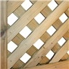 Privacy lattice trellis is constructed from treated planed all round timber arranged in a diamond shape. The panel's 35mm framework and 30mm battens are arranged to create a diamond affect with 30mm spaces thus achieving more privacy than standard trellis.