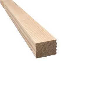 Lawsons 32 x 38mm Softwood PAR door stop firecheck timber is of top-quality and ideal for a varnished, painted or stained finish. Being a constant size makes it ideal for joinery projects where a perfect finish is required and because it has been slow grown it is less likely to twist or distort.