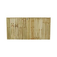 915x1828mm (3') Green Pressure Treated Feather Edge Fence Panel
