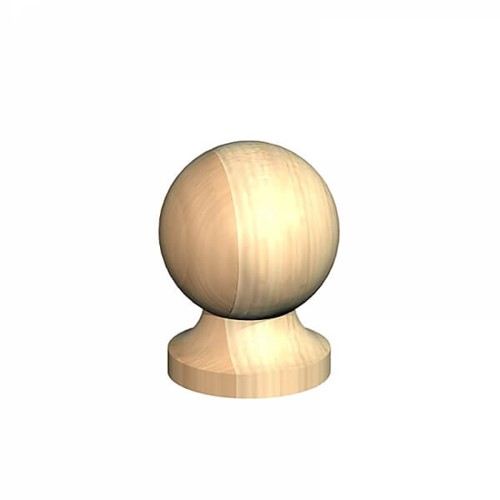 3inch Post Ball & Collar Finial Untreated