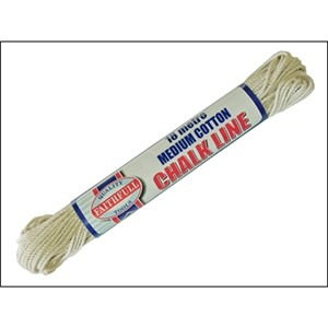 Faithfull 18m Medium cotton chalk lines are ideal for most applications in the building trade and can be used as chalk or brick lines.