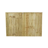 1218x1828mm (4') Green Pressure Treated Feather Edge Fence Panel