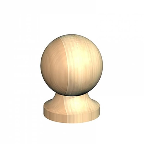 4inch Post Ball & Collar Finial Untreated