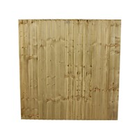 "1650x1828mm (5' 6"") Green Pressure Treated Feather Edge Fence Panel"