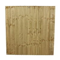 1828x1828mm (6')  Green Pressure Treated Feather Edge Fence Panel