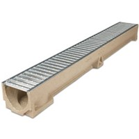 ACO RainDrain is a lightweight channel drainage system designed to provide surface water drainage for a range of domestic and light duty traffic applications. 1m in length complete with Galvanised Steel Grate.