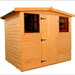 The Dart 3.0x1.8m Apex shed has the advantage of a door with a lock, full tongue and grooved timber floors and roofs, thick 12mm cladding, and are constructed using solid 45x34mm timber framing to ensure a long life. It is factory treated and stained with a water based red cedar colour treatment, and supplied with heavy 20kg roofing felt, glass, trims and all fixings required to install the building.