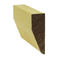 Lawsons 19 x 63 mm Chamfered Architrave is a stylish architectural moulding ideal for use around door frames to hide the untidy edge where the wall joins the frame. Being of a superior finish and having very few knots means they require very little preparation before painting or staining. They are manufactured from Scandinavian redwood to a high standard to ensure constant sizing and style.
