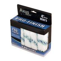 "Axus Blue Pro Finish Medium Pile Mini Sleeve 4""  Pack of 10"