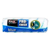 "Axus blue pro-finish 9"" (225mm) long pile roller sleeve is manufactured from super-soft fabric which provides a ultra-fine finish on smooth or nearly smooth ceilings and walls."
