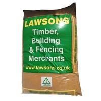Lawsons' Mini Bags of 20mm Ballast, also known as All-in Ballast is a 50/50 mixture of sharp sand and 20mm down crushed aggregate for use in general concreting applications.
