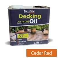 Barrettine 2.5L Cedar Red Decking Oil All In One Treatment