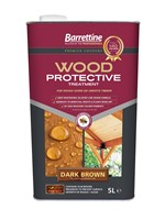 Barrettine 5L Dark Brown is a wood sealer for rough, sawn or smooth timber. It contains water repellent resins and a biocide film wood preserver to prevent the surface growth of mould/algae and together this helps reduce decay, swelling, twisting of wood. Pigments have good UV fade resistance and will help protect wood from UV damage. This wood protector is an ideal treatment for outdoor treated timber structures such as Sheds, Fences, Trellis, Pergola and timber Gazeboes.