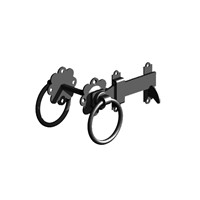 "Birkdale Gatemate Black 6"" Ring Gate Latches 5251503"