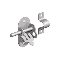 "Birkdale Gatemate Oval Padbolt has overall dimensions of 4"" x ½""  (100mm x 12mm) and has a galvanised finish."