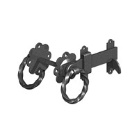 "Birkdale Gatemate Black 6"" Twisted Ring Gate Latches 5241503"