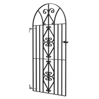 Black Windsor Bow Top Metal Gate 1810x740mm 8039003