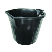 Black Plastic 3 Gallon Bucket