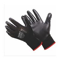 Light weight glove with Nitrile coating on palm and fingers. Uncoated on the back to keep hands cool when working. Offers excellent protection, abrasion and chemical resistance. The Nitrile coating offers a good grip on oily surfaces.