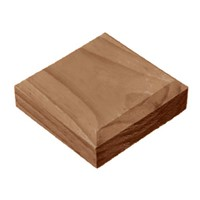 96x96x23mm Brown Treated Post Cap For 75mm Post