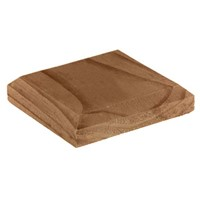 120x120x26mm Brown Treated Post Cap For 100mm Post
