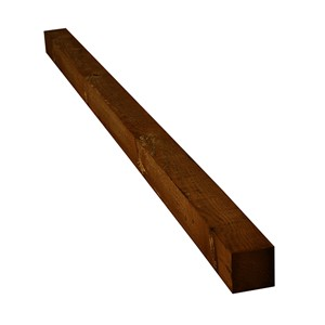Brown Timber Fence Posts 100 x 100 x 1800mm are treated to user class 4, so please note that any cuts, notches, or mortices that are made when installing your post will need to be re-coated with timber preservative to maintain their durability. When selecting the length of fence post required remember it is standard practice for posts to be set 600mm into the ground to support a fence of up to 1.8mtr high.