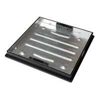 CLKS 450SR MHC&F Galv 450x450x80mm Recessed B/Paving Square to Round