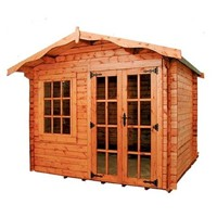 The Charnwood A 3.0 x 2.4m Log Cabin comes complete with a top quality mortice lock, it has full tongue and grooved timber floors and roofs, thick 33mm interlocking T&G Log style cladding, and are constructed using solid timber framing to ensure a long life. The double doors are 1200 x 1800mm and the unit has an eaves height of 2.0m. All units come untreated so it is always a good idea to give them a couple of coats of a proprietary preservative as soon as installed.