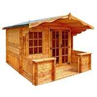 The Charnwood B 3.6 x 4.8m Log Cabin comes complete with a top quality mortice lock, it has full tongue and grooved timber floors and roofs, thick 33mm interlocking T&G Log style cladding, and are constructed using solid timber framing to ensure a long life. The double doors are 1200 x 1800mm and the unit has an eaves height of 2.0m. All units come untreated so it is always a good idea to give them a couple of coats of a proprietary preservative as soon as installed.