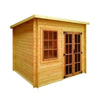 The Charnwood Pent Log Cabin 3.0 x 1.8m comes complete with a top quality mortice lock, it has full tongue and grooved timber floors and roofs, thick 33mm interlocking T&G Log style cladding, and are constructed using solid timber framing to ensure a long life. The double doors are 1200 x 1800mm and the unit has an eaves height of 1.93 – 2.14m.  All units come untreated so it is always a good idea to give them a couple of coats of a proprietary preservative as soon as installed.