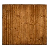 "1650x1828mm (5' 6"") Brown Pressure Treated Feather Edge Fence Panel"