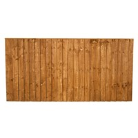 915x1828mm (3') Brown Pressure Treated Feather Edge Fence Panel