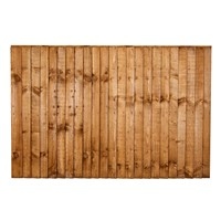 1218x1828mm (4') Brown Pressure Treated Feather Edge Fence Panel