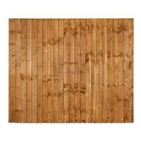 1524x1828mm (5') Brown Pressure Treated Feather Edge Fence Panel