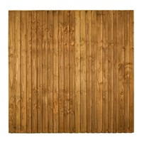 1828x1828mm (6')  Brown Pressure Treated Feather Edge Fence Panel