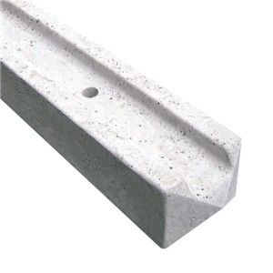 Perfect as a finishing to your fencing project the 2745mm (9ft) Concrete Slotted End Fence Post provides your boundary with a neatness and defined smooth facing end. Whilst there is no structural reason not to use an intermediate post, all projects deserve the best finish for the person who sees it everyday.