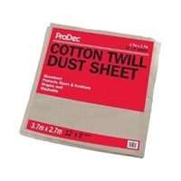 Cotton Twill Dust Sheet 12ft x 9ft