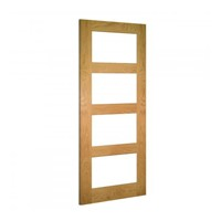 Coventry Clear Glazed Internal Unfinished Oak Door 2032x813x35mm