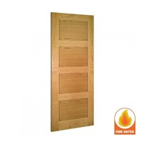 Coventry Internal Unfinished Oak Fire Door 2040x826x45mm